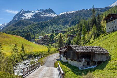 Mountain stream near the village of Prettau in the rear Ahrntal, South Tyrol, Italy Stock Photo