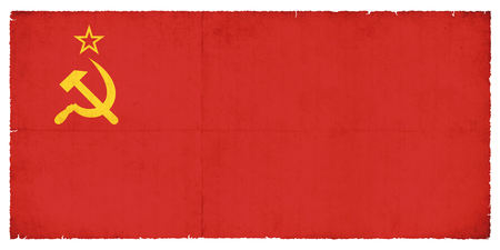 National Flag of the Soviet Union created in grunge style