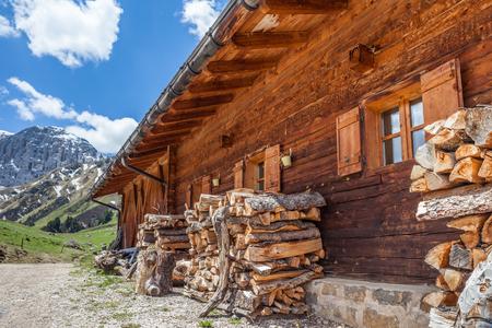 The Mahlknecht alpin hut on the Alpe di Siusi, South Tyrol, Italy