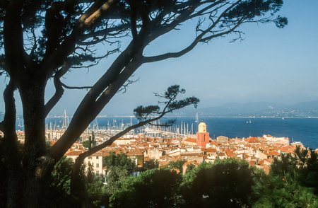 View of Saint Tropez, Cote Azur, France