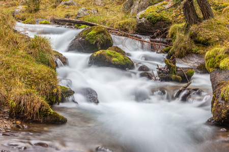 The Reinbach in autumn (long-term exposure),Reintal, South Tyrol, Italy