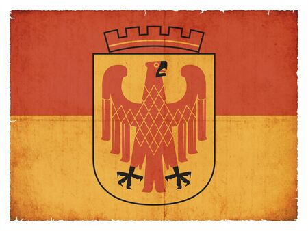 Flag of the German town Potsdam (Brandenburg, Germany) created in grunge style