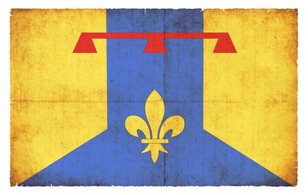 Flag of the French Departement Bouches-du-Rhone created in grunge style