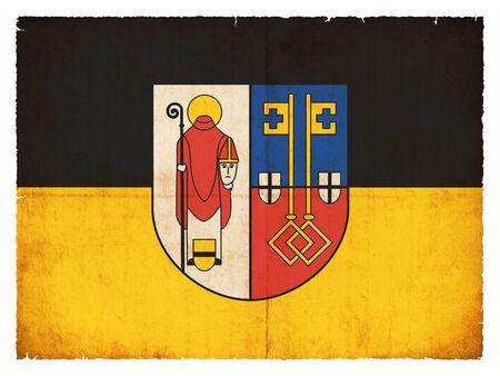 Flag of the German town Krefeld (North Rhine-Westphalia, Germany) created in grunge style