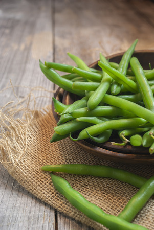 greenbeans: fresh picked green beans in a bowl