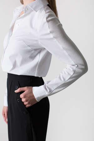 lovely businesswoman: Lovely businesswoman in white shirt