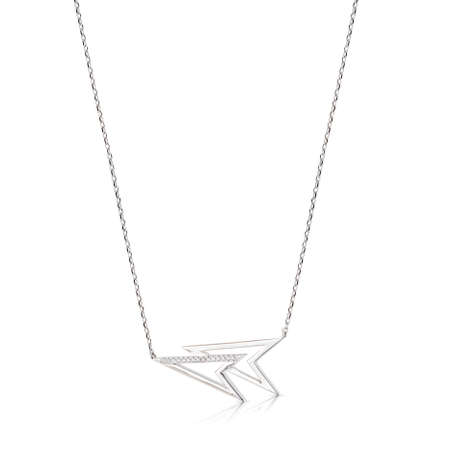 Silver pendant on a chain isolated on a white background