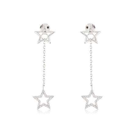 Pair of jewelry earrings isolated on the white 写真素材