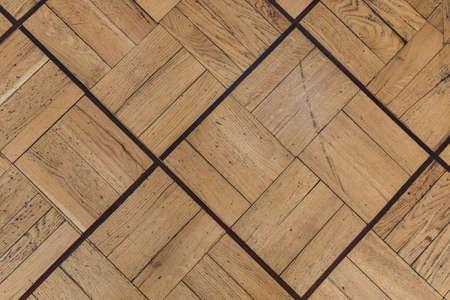 Brown and textured old wooden floor texture 写真素材