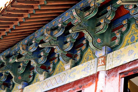 song dynasty: eaves of ancient building Stock Photo