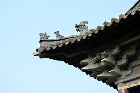 song dynasty: Ancient building roof Stock Photo
