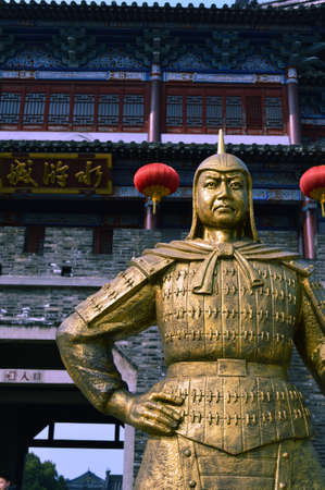 song dynasty: Statue in the Shuihu City, Jiangsu, Wuxi Editorial