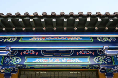 song dynasty: Close up of ancient architecture Stock Photo