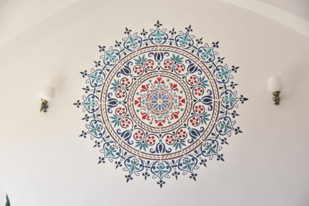 Beautiful traditional painting on the wall