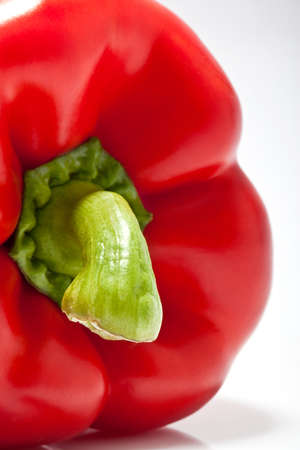 closeup of red pepper on white background Stock Photo