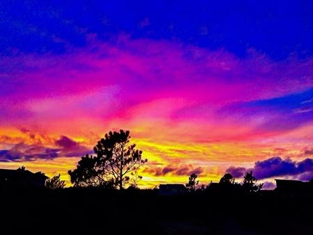 stunning sunset at the Outer Banks.  Reklamní fotografie