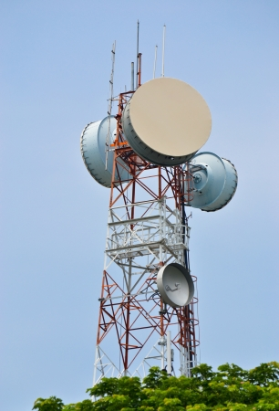 microwave antenna: Antenna Tower of Communication