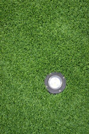 texture of turf and lamp