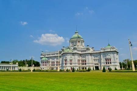 assembly hall: Anantasamakhom Throne Hall in Bangkok, Thailand and nice sky