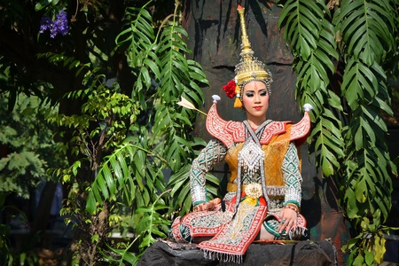 khon show in a drama ramayana of thailand southeast asia