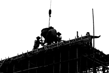 silhouette labor working construct photo