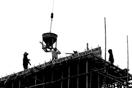 materiales de construccion: laboral silueta trabajo construir Foto de archivo