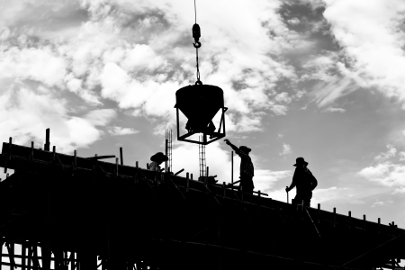 building site: silhouette labor working construct