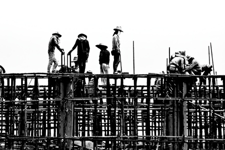 silhouette labor working construct