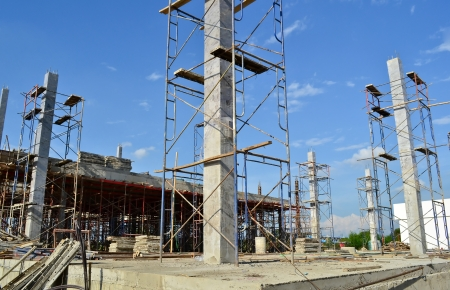 concrete blocks: building construct site