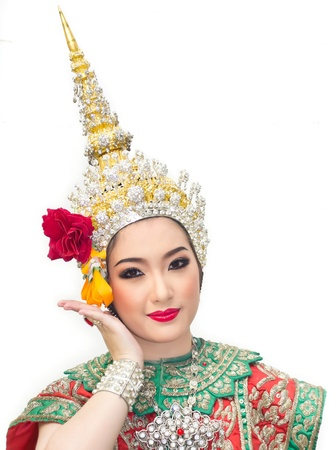 beautiful asian women in traditional costume of thailand southeast asia photo