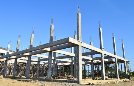 cement pole: building construct site