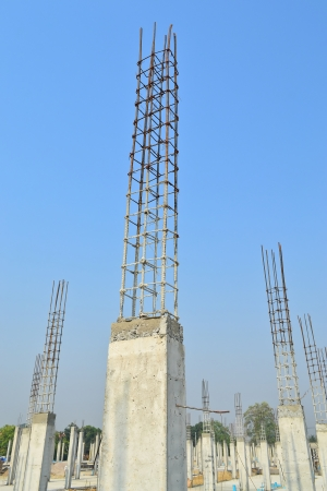 cement pillar in construct site