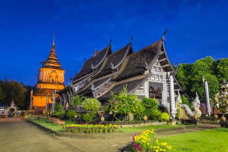 Wat Lokmolee Famous Temple of Chiang Mai, Thailand photo