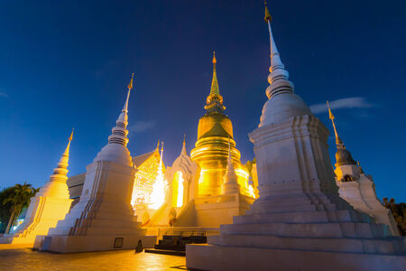 Wat SuanDok Famous Temple of Chiang Mai, Thailand photo