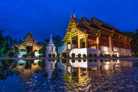 Wat Phra Sing Famous Temple of Chiang Mai, Thailand photo