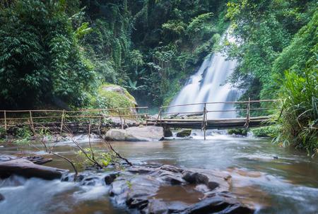 pa: pa dok seaw beautiful waterfall of chaing mai, thailand