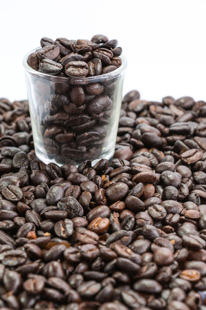 parch: coffee beans in glass