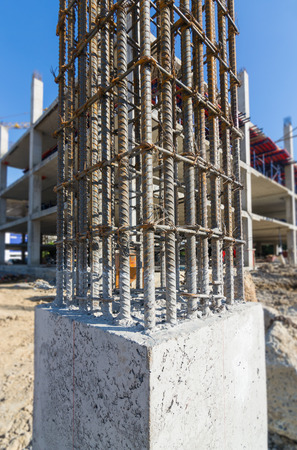 cement prop in  building construct site Stock Photo