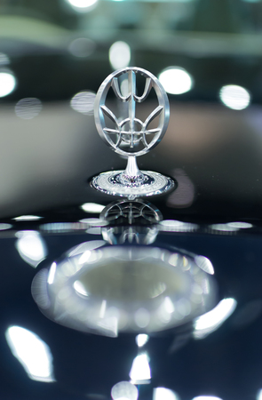 Chiang Mai, Thailand - March 28 - Logo MITSUOKA Car On Display In Northern Auto Show 2014