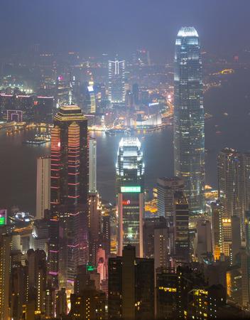 The Peak Hong Kong City In Mist