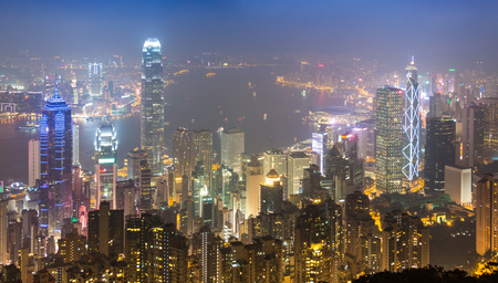 The Peak Hong Kong City In Mist