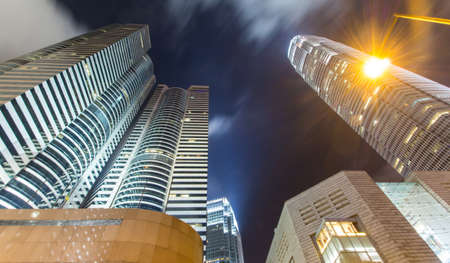 Hong Kong City Scape And Mist In Sky Banco de Imagens