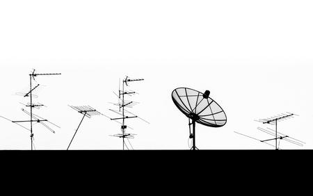 Silhouette Satellite Dish and Antenna TV