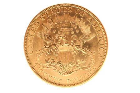 Reverse of united states double eagle gold bullion coin photo
