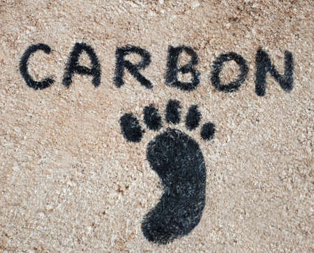 carbon pollution: Carbon footprint concept