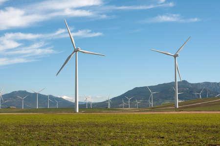 Windturbines in Andalusië, Spanje Stockfoto