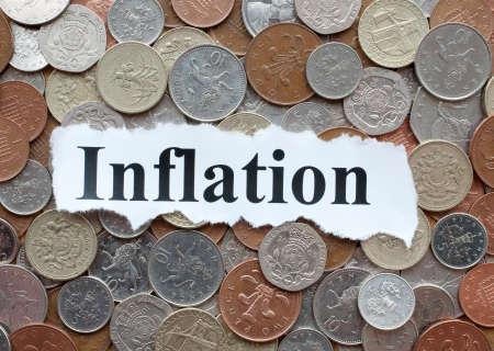 Inflatie - dalende waarde van het geld Stockfoto