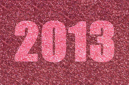 The year 2013 in sparkling red glitter Stock Photo - 12805921