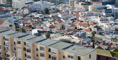 rooftops: View over the rooftops of the old town in Gibraltar