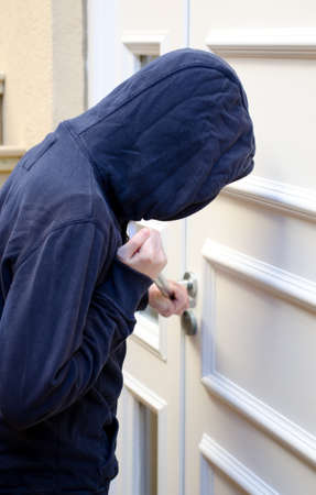 breaking: Breaking and entering Stock Photo
